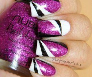 black, purple, and white image