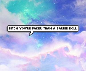 barbie, grunge, and bitch image