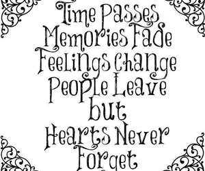feelings, forget, and hearts image