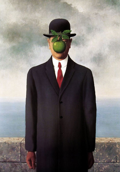 apple, painting, and rene magritte image