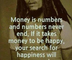 money, quote, and happiness image
