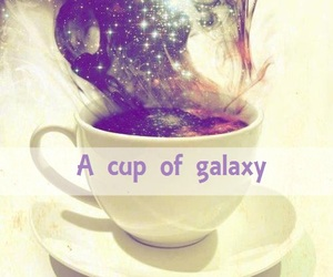 galaxy, cup, and space image