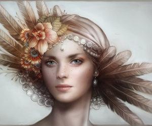 art, digital art, and girl image