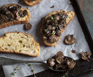 breakfast, food, and mushroom image