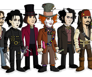 edward scissorhands, jack sparrow, and johnny deep image