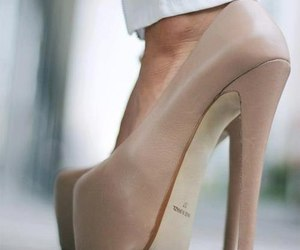 high heels, Nude, and sexy image