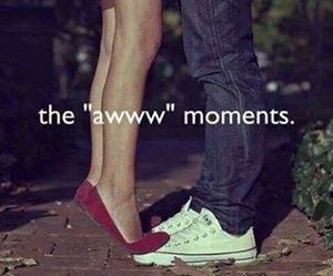 kiss, moment, and love image