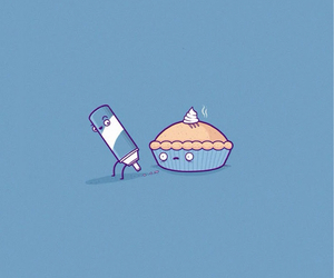 pie, funny, and wallpaper image