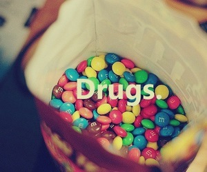 drugs, food, and m&m image