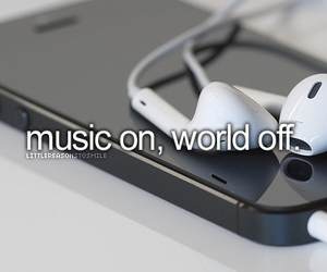 iphone, music, and quote image