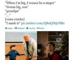 one direction, louis tomlinson, and grandpa image