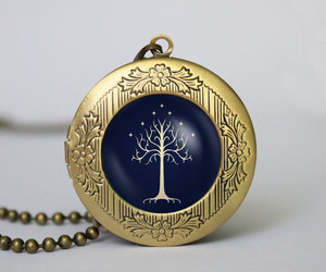 vintage jewelry, white tree of gondor, and movies jewelry image