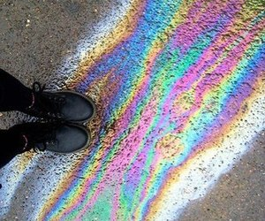 rainbow, hipster, and colorful image
