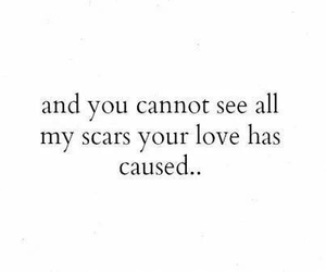 scars, love, and quote image
