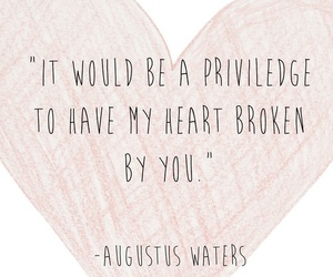 heart, augustus waters, and quote image