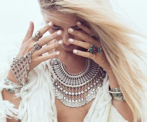 girl, necklace, and jewelry image