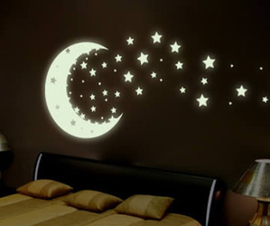bedroom, pretty, and stars image