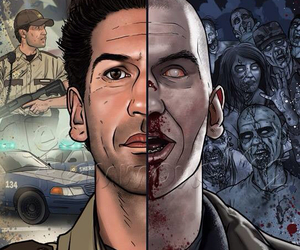 the walking dead, shane, and zombie image