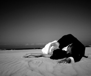 couple, beach, and just married image