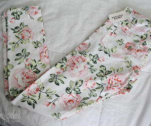 floral, flowers, and pants image