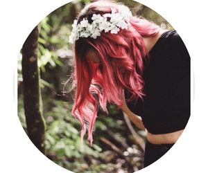 cute, hair, and pink image