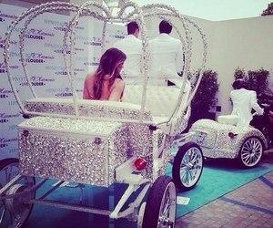princess, diamond, and carriage image