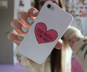 case, iphone, and sassy image