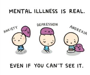 anxiety, mental illness, and chibird image