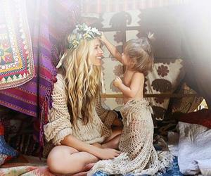 girl, happy, and mum image