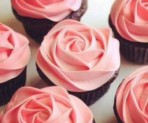 cupcake, rose, and pink image