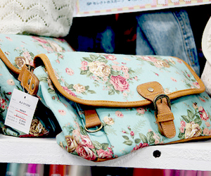 bag, pretty, and floral image
