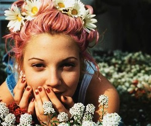 flowers, girl, and drew barrymore image