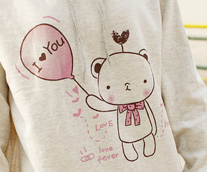 cute, bear, and I Love You image