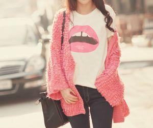 fashion, pink, and lips image