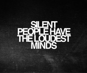 loud, mind, and silent image