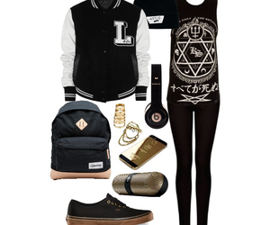 backpack, beats, and clothes image