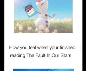 frozen, olaf, and the fault in our stars image