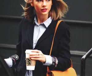 bag, coffee, and Taylor Swift image