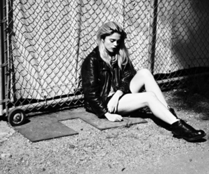 black and white, model, and sky ferreira image