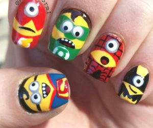 fashion, minions, and nails image