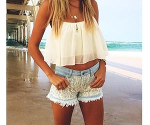 summer, fashion, and beach image