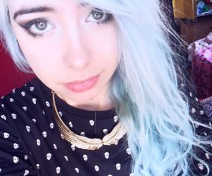blue hair, fat, and girl image