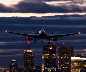 plane, travel, and city image