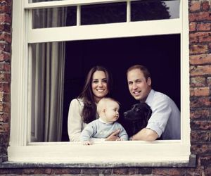 kate middleton, prince william, and prince george image