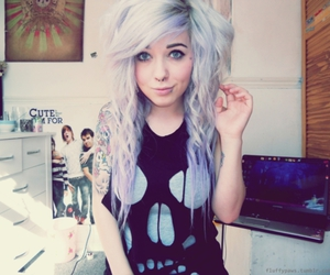 girl, hair, and fluffypaws image