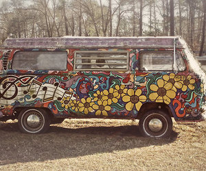 hippie, vintage, and volkswagen image