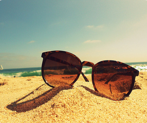 beach, summer, and sunglasses image