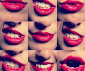 lips, red, and smile image