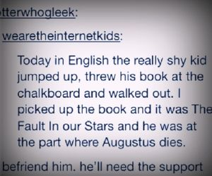 augustus, john green, and the fault in our stars image