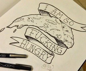 hungry, pizza, and food image